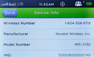 novatel wireless mifi 2 IMEI number