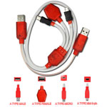 DT-8X+118 cable by Dits supporting a range of mobile devices with the following...