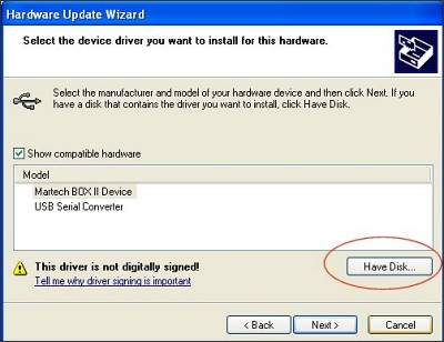 Driver Installation Troubleshooter - Step 5