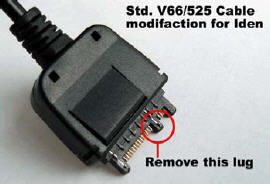 Unlocking cable for motorola iden unlock