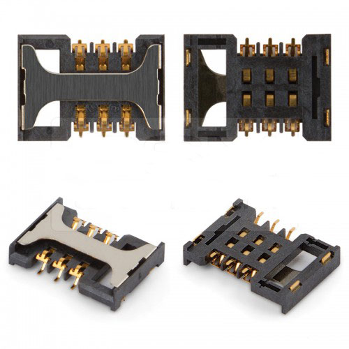 SIM CARD CONNECTOR SLOT FOR SAMSUNG S5830, S8300, S7350, S5670, i900, i6210