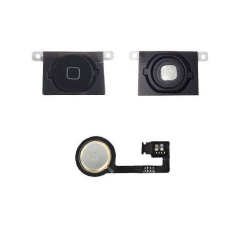 BLACK HOME MENU BUTTON FLEX CABLE + KEY CAP ASSEMBLY FOR APPLE IPHONE 4S