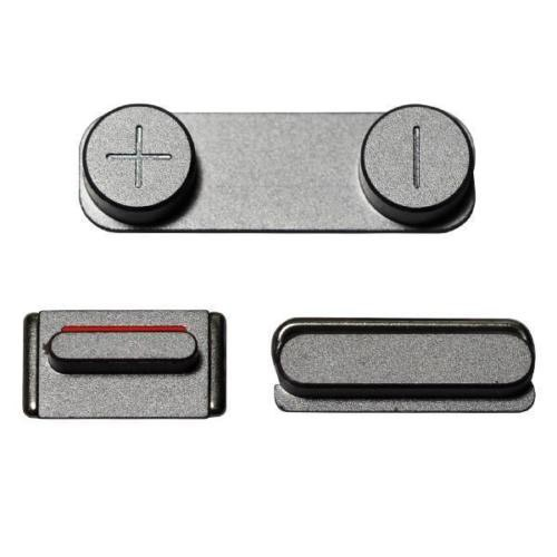 COMPLETE SIDE BUTTON SET (VOLUME, POWER, MUTE) FOR APPLE IPHONE 5S