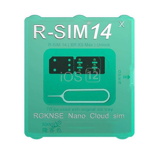 rsim 14 r-sim 14 unlock sim card for apple iphone unlocking. ios 12.3