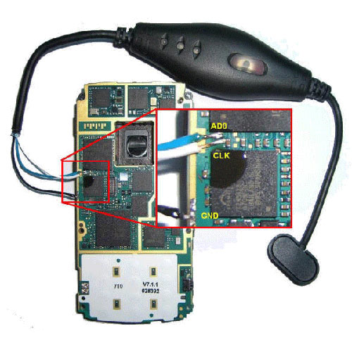 nokia n95 hammer unlock clip testpoint procedure (clip connection )