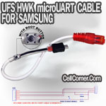 SAMSUNG B3210 C3303 S5560 UART CABLE W/ IGNITION BUTTON FOR HWK UFS