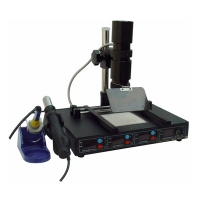 YAXUN 862D++ BGA SMD IRDA INFRARED REWORK STATION W/ HOT AIRGUN & PREHEATING SYSTEM