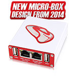 New Micro-Box case is fully made of aluminum, light and resistant, built-in with a Hub, and...